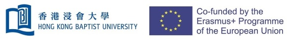 HKBU logo and Erasmus+ EU logo